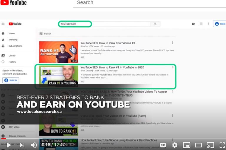 Les 7 Meilleures Stratégies Pour Classer Et Gagner Sur Youtube