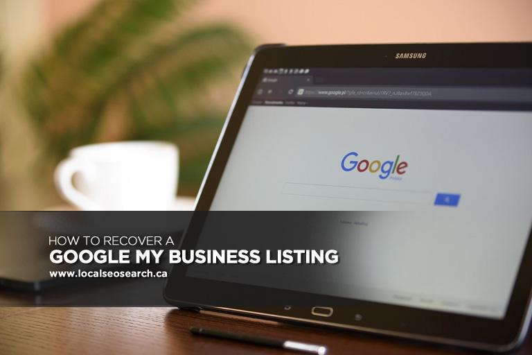 Comment Récupérer Une Fiche Google My Business