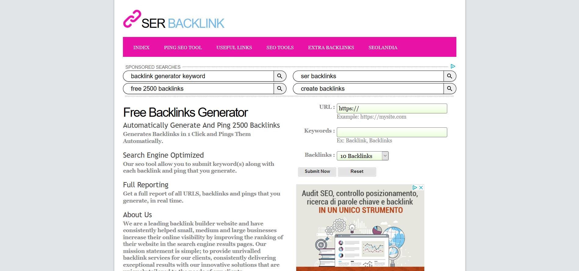 Générateur De Backlink, Générer Des Backlinks Gratuits, Outil Backlink Builder