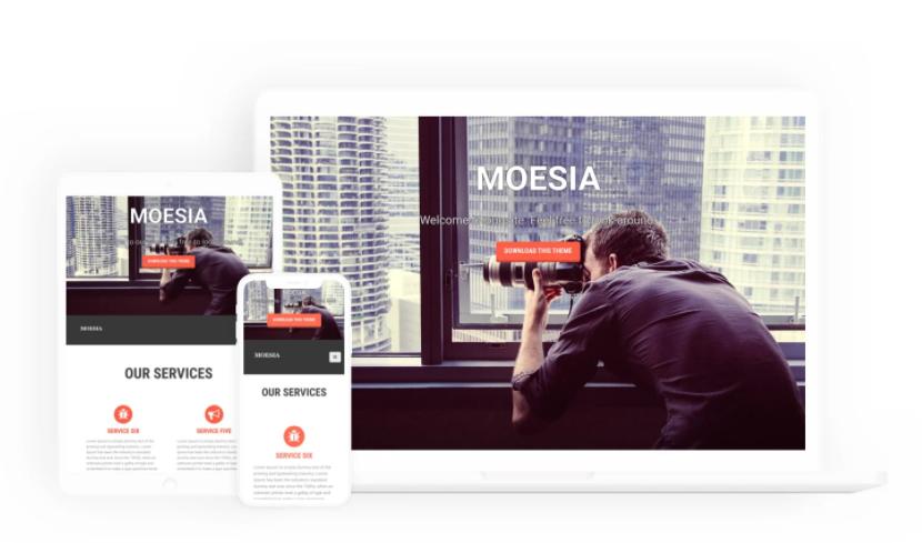 Moesia Thème Wordpress Gratuit Pour Les Entreprises